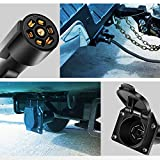 Nilight 7-Way Trailer Plug Socket Extension Cable