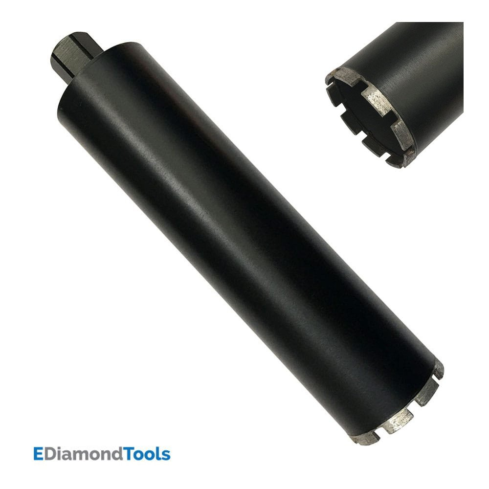 Supreme Wet Drill Core Bits for High PSI Reinforced Concrete 6 Diameter 1-1//4 7 Threaded #30//40 Diamond Grits