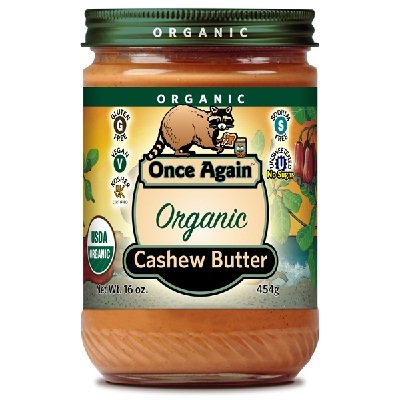 Once Again Natural Creamy Cashew Butter, 16 Ounce -- 12 per case. by Once Again Nut Butter