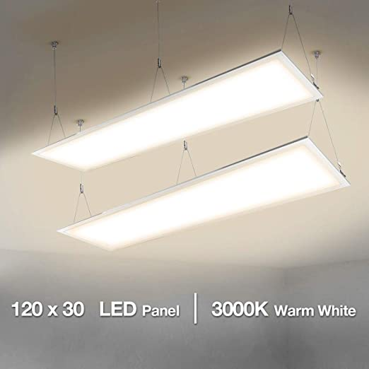 Le 40w Led Panel 1200 X 300 80w Fluorescent Replacement Warm White 3000k Ceiling Light For Home And Office Pack Of 2 Amazon Co Uk Lighting