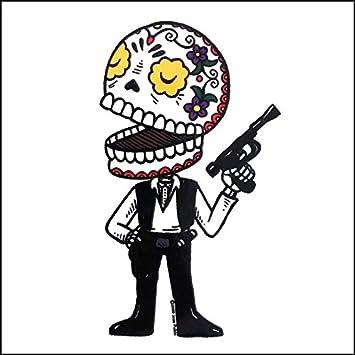 Star wars han solo calavera die cut vinyl sticker sugar skull day of the dead