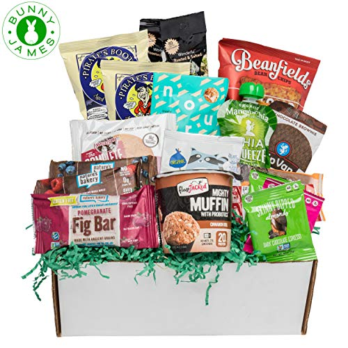 Happy Birthday Snacks Gift Box: Premium Healthy Snack Assortment Sweet & Savory Snacks, Low Sugar Treats Birthday Gift for All Ages ()