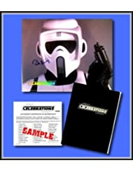 Star Wars Hand Signed Autographed Photo of PETER DIAMOND as a BIKER SCOUT TROOPER - from the Star Wars Celebration II Conven