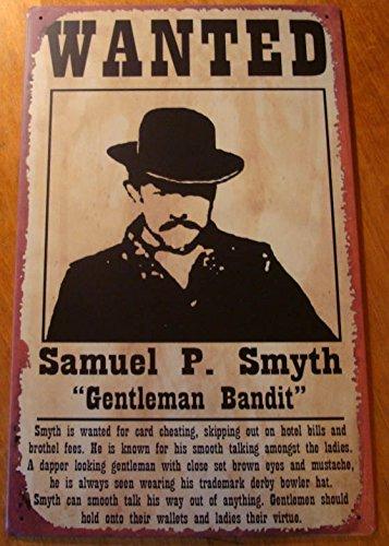 Amazon.com: Rústico viejo oeste Wanted – cartel Gentleman ...