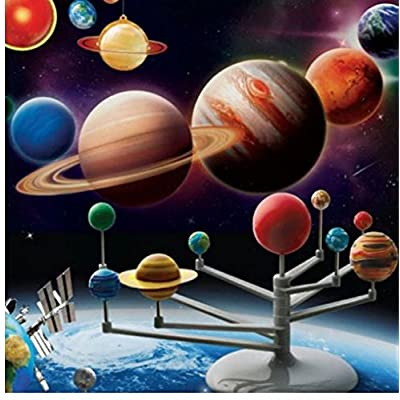Solar System Planetarium Model Kit Astronomy Science Project DIY Kids Gift: Toys & Games