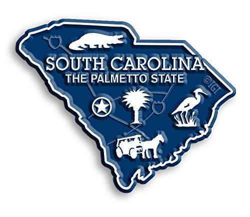 South Carolina State Map Magnet (Map South Carolina State)
