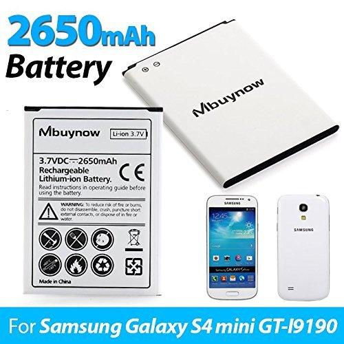 Mbuynow 2650mAh Li-Ion Batería de Reemplazo Recargable para Samsung Galaxy S4 Mini GT-i9190 i9195