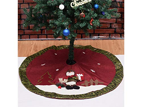 OVIIVO Perfect Christmas Tree Skirt Christmas Tree Apron Christmas Decoration 105cm(Multicolor)