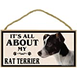 Imagine This Wood Breed Sign, It's All About My Rat Terrier