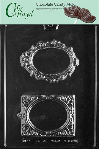 Cybrtrayd M180 Fancy Frames Chocolate Candy Mold with Exclusive Cybrtrayd Copyrighted Chocolate Molding Instructions