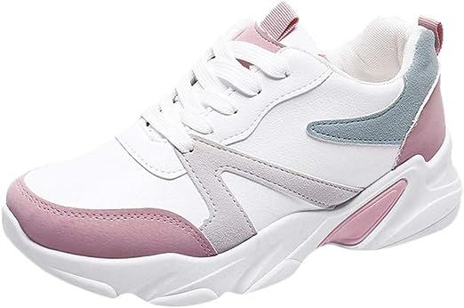 beautyjourney Zapatos Deportivos de Plataforma para Mujer Zapatillas de Deporte Suaves y Transpirables Zapatillas de Correr al Aire Libre Calzado Casual Impermeable Antideslizante: Amazon.es: Ropa y accesorios