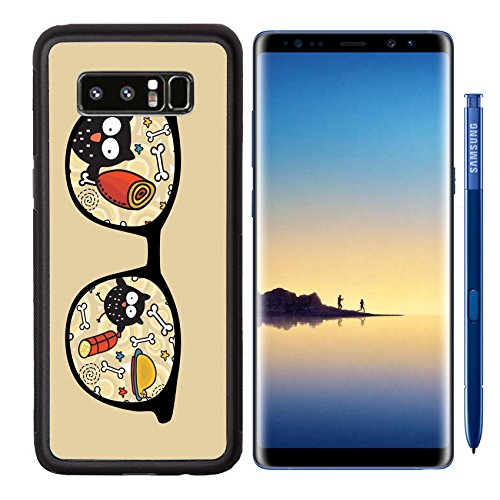 MSD Premium Samsung Galaxy Note8 Aluminum Backplate Bumper Snap Case IMAGE ID: 13239100 Retro sunglasses with owl and meat reflection in - O Marines Sunglasses