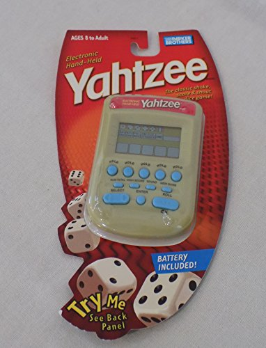 YAHTZEE Electronic Handheld Game/SPECIAL EDITION CREAM COLOR (New!) by Parker Brothers