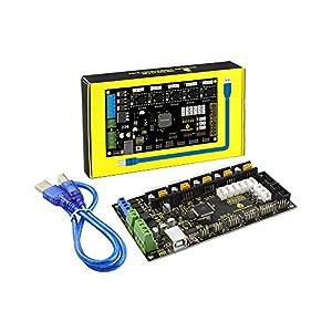 keyestudio MKS GEN 1.4 3D Printer controller Board /RAMPS 1.4 + Mega 2560 for Arduino (Black &Environmental-protection) from keyes