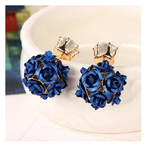 Fashion Double Earrings Jewelry Crystal