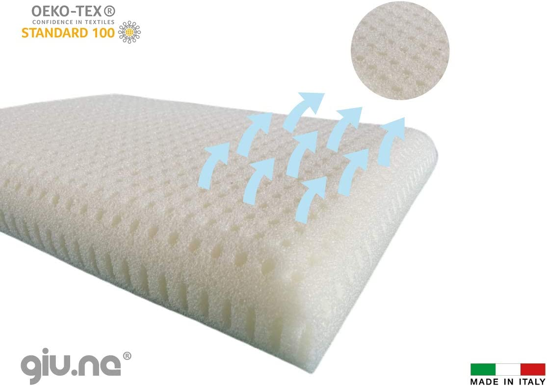 GIUNE/® Baby Memory Foam Pillow New Generation 100/% Washable Anti-sophobic Safety for Cot Hypoallergenic White Size 60 x 40 x 9 cm