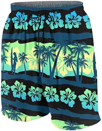 キッズ ビーチパンツ 緑 日の出 熱帯 プルメリア サーフパンツ 海パン 水着 海水パンツ ショートパンツ サーフトランクス スポーツパンツ ジュニア 半ズボン ファッション 人気 おしゃれ 子供 青少年 ボーイズ 水陸両用