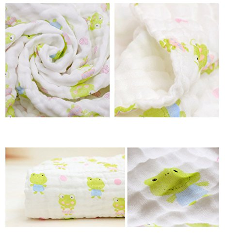 Lucear Muslin Baby Bath Towels Also Warm for Baby Blanket by Lucear (Image #3)