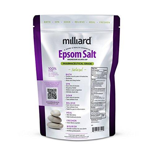 Milliard Epsom Salt 5lbs. Magnesium Sulfate BULK Bag