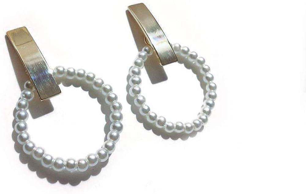 JIANG Arete Pendientes de Moda for Mujer Pendientes de Perlas for Mujer Niñas