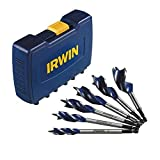 IRWIN Tools SPEEDBOR Max Speed Auger Wood Drill Bit Set, 6-Piece, 3041006