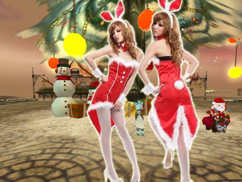 Bunny Santa Costume (super sexy! Santa Bunny Girl (Red) / Santa Claus / cosplay / costume 7017 (japan)