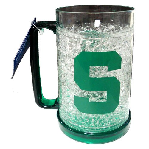 Michigan State Spartans Mug (NCAA Michigan State Spartans 16-Ounce Crystal Freezer Mug)