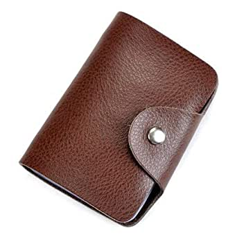 Baile Coffee Leather For Unisex - Card & ID Cases