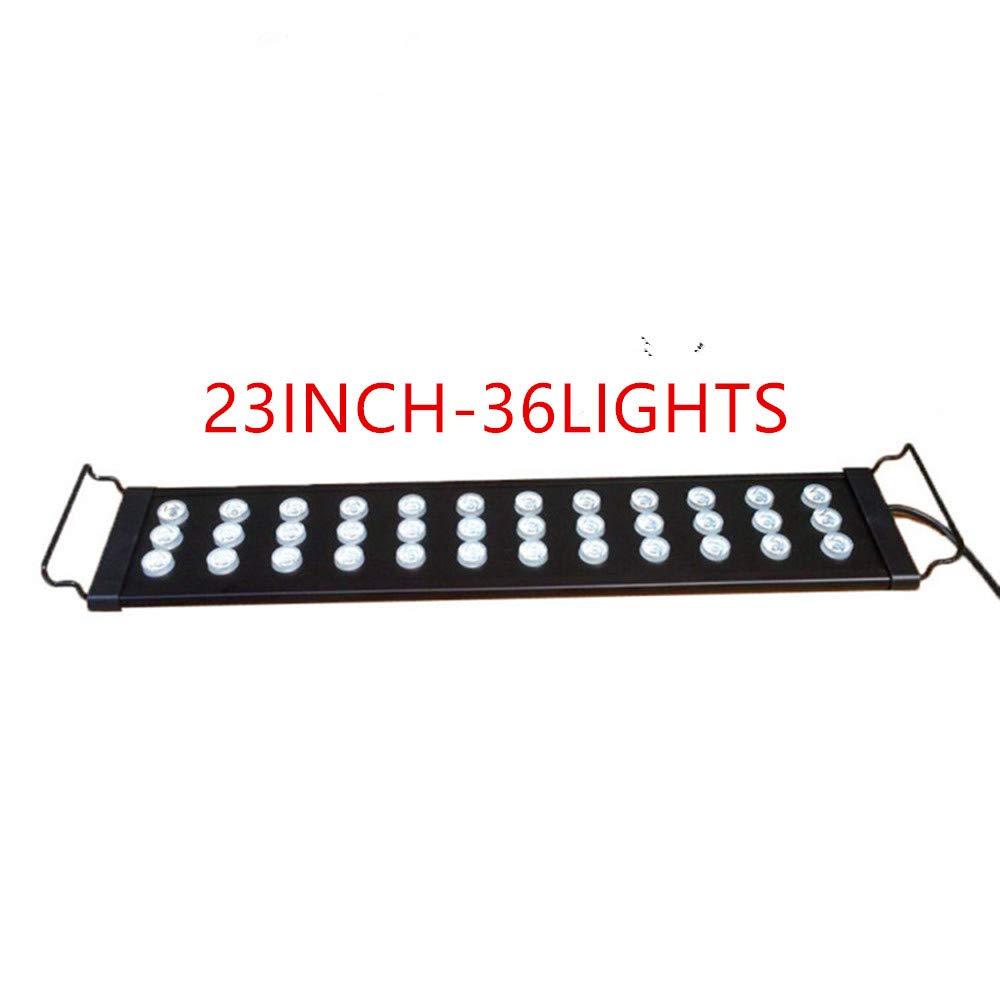 23INCH QPSON Aquarium Light for Extendable waterproof Condenser lens Full Spectrum Fish Tank Lamp (23INCH)