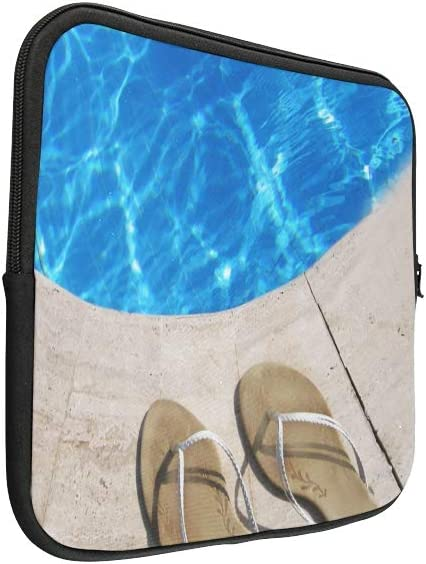 Unique Custom Coloured Flip Flops Float in The Swimming Pool Print Mens Briefcase Laptop Soft Laptop Organizer Case Briefcase Protective for MacBook Air 11