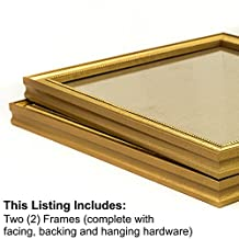 Craig Frames 314Gd 16 by 20-Inch Picture Frame 2-Piece Set, Solid Wood, 0.80-Inch Wide, Beaded Gold Flake