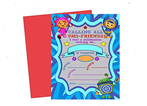Calling All Umizoomi Friends! Team Umi Zoomi Party Supplies Invitations Decor -