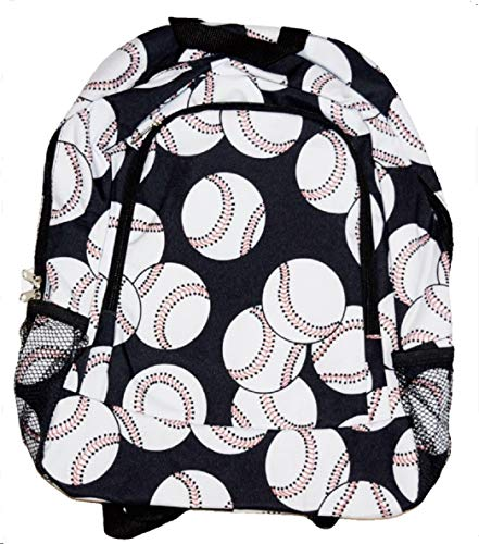 White Baseball Large Backpack 17