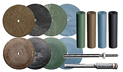Dedeco 0015 Small Wheel and Point Rubberized Abrasive Assortment Kit (Pack of 126)