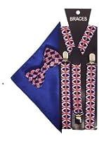 Sock Snob - Bretelles - À carreaux - Homme Bleu Red Blue Taille unique