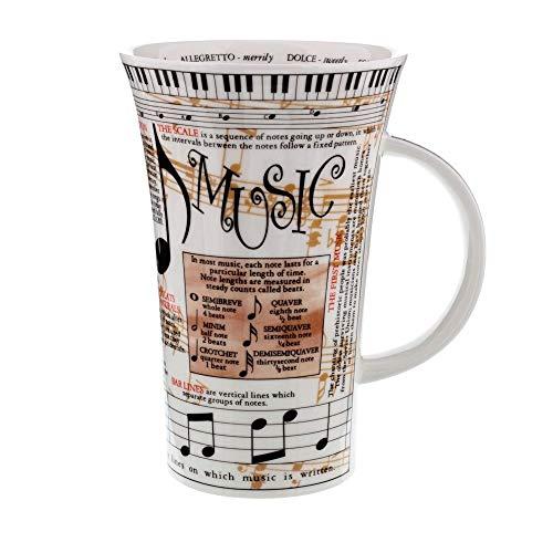 Dunoon Glencoe Fine China Educational MUSIC Mug Cup 500ml 16.9 fl oz