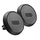 Mpow Magnetic Air Vent Car Mount Holder, Carbon Fiber Cell Phone Cradle, Universal Smartphone Holder for iPhone X/8/7/7 Plus, Google Pixel, Huawei P9/P9 Plus, Samsung Galaxy S8 S7 S6 etc.