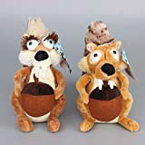 Ice Age III Plush 7.9'' / 20cm Squirrels 2pcs Set Doll Stuffed Animals Figure Soft Anime Collection Toy