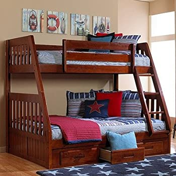 Merlot Twin Over Full Bunk Bed