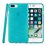 Kit Me Out CAN® Apple iPhone 7 Plus [Shocking Absorbing] [Thin Fit] Premium Brushed Effect Protective TPU Gel Case Cover Skin Pouch - Teal Blue