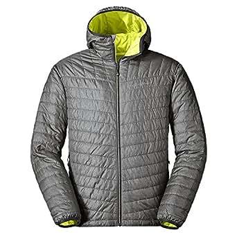 Eddie Bauer Men's IgniteLite Reversible Hooded Jacket, Dk Smoke Htr S