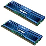 Patriot 16GB(2x8GB) Viper III  DDR3 1600MHz (PC3 12800) CL9 Desktop Memory With Saphire Blue Heatsink- PV316G160C9KBL