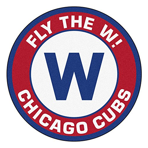 FANMATS MLB Chicago Cubs Roundel Mat, Team Color, One - Mlb Cubs Tufted Chicago Rug
