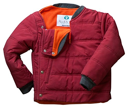 Price comparison product image Buckle Me Baby Coat | Car Seat Winter Jacket Toddler Boy Girl | Red (2T)