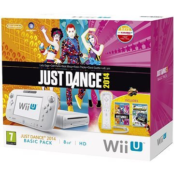 Nintendo Wii U Basic Pack White (8GB) + Wii Remote Plus + 2014+ Just Dance 3 games