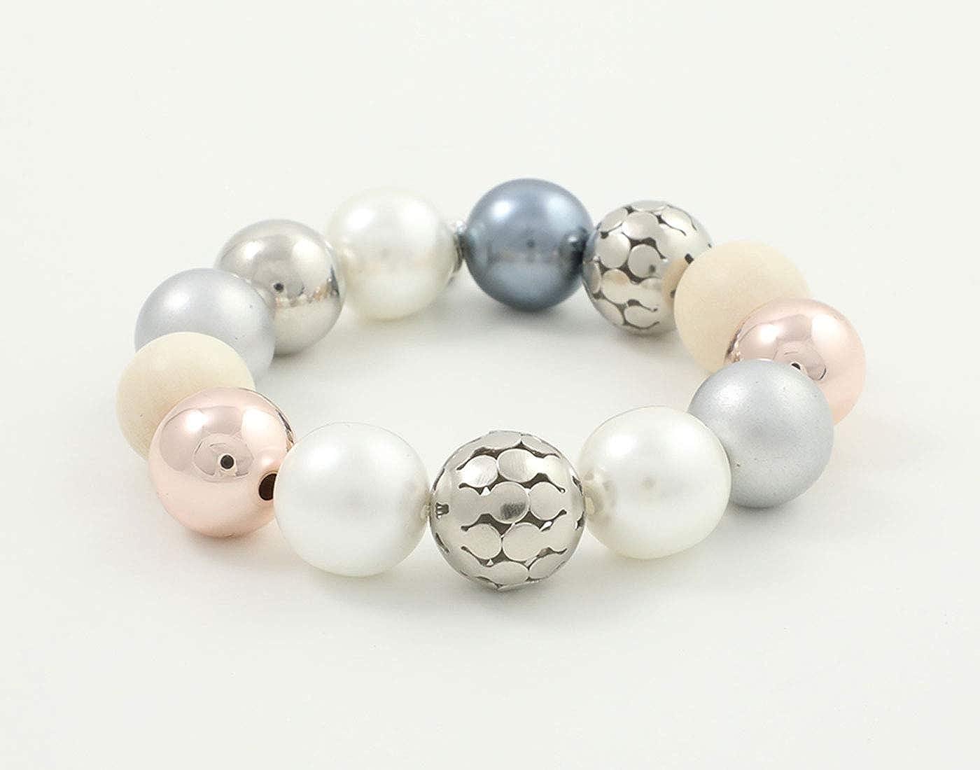 Feliss Parure de bijoux pour femme avec collier et bracelet /à perles multicolores boucles doreilles cadeau pour femme//s/œur//maman