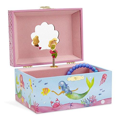 Keepsake Box Rainbow (JewelKeeper Mermaid Musical Jewelry Box, Underwater Design with Narwhal, Over the Waves Tune)