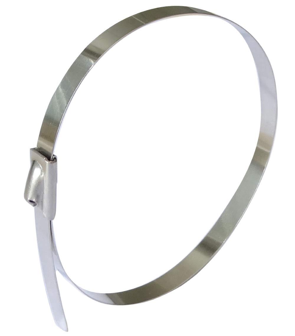 AERZETIX 4.6mm x 200mm 20cm 10 Colliers de Serrage en m/étal INOX Acier Inoxydable r/ésistent aux acides C42127