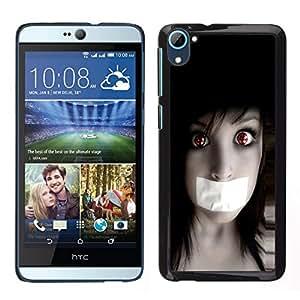 // PHONE CASE GIFT // Duro Estuche protector PC Cáscara Plástico Carcasa Funda Hard Protective Case for HTC Desire D826 / Anime Goth Girl /