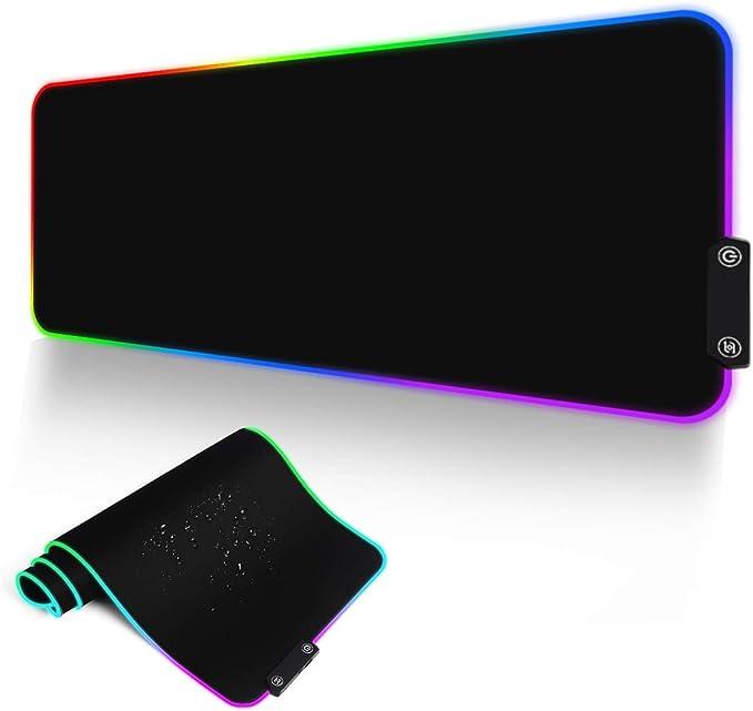 Alfombrillas de Ratón RGB, Alfombrilla Raton LED de 14 ...
